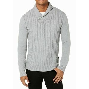 Sean John gray shawl collar sweater